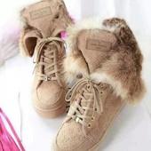 Люксовые ботинки Chanel. Натуралки