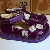 Акция! р. 22, 23 D.D.Step Ponte 20 Ортопедические кожаные туфли.