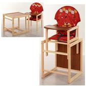 Стульчик для кормления трансформер деревянный МV-010-21-1