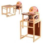 Стульчик для кормления трансформер деревянный МV-001-1