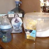 Паровой стерилизатор+2 бутылочки + две соски