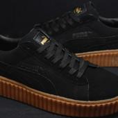 Мужские кроссовки Puma Creepers черные,натуральная замша