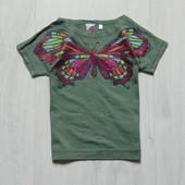 Стильная футболка для девочки. C&A. Размер 5 лет. Состояние: отличное