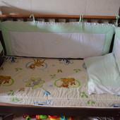 Продам детскую кроватку Верес + Матрас+Бамперы