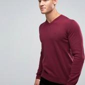 Armani Jeans новый свитер с локтями цвет марсала. Шерсть-коттон. Оригинал.