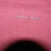 Armani Jeans  свитер с локтями цвет марсала. Шерсть-коттон. Оригинал.