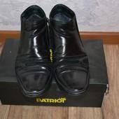 Утепленные кожаные ботинки, 41р 27см