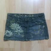Фирменные джинсовая юбка M-L
