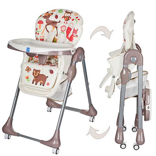 Детский стульчик для кормления Bambi  (M 3234) с регулировкой столика фото №1
