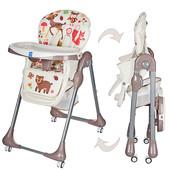 Детский стульчик для кормления Bambi  (M 3234) с регулировкой столика