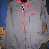 Спортивная кофта Nike, на замочке, большемерит