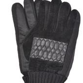Мужские замшево-трикотажные перчатки.