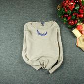 M-L Gap ангоровый песочный свитер лаконичной вязки! shaf0376