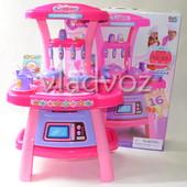 Детская игрушечная кухня со звуком, плита для девочки 2 конфорки cool cooker розовая