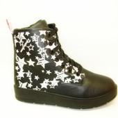 Женские зимние ботинки звезды