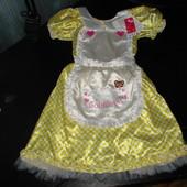 нарядное маскарадное платье Nutmeg Goldilocks 7-8 лет новое с бирками