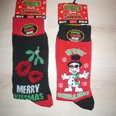 Носки новогодние снеговик Merry Kissmas 39-45 р UK 6-11 р