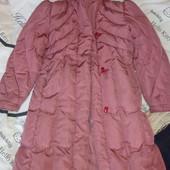 продам пуховое пальто 134-143 рост цену снизила