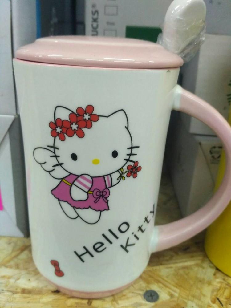 Керамическая чашка hello kitty (хелоу кити) фото №1
