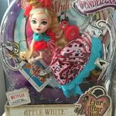 Кукла Ever after  High way too wonderland  apple white / Кукла Эпл Уайт