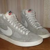 Nike оригинал высокие кеды кроссовки 100% замша 41 р-р