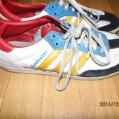(і317)фирменные кожаные кеды Adidas 47 р UK 12