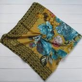 Хлопковый платок цветы желтый