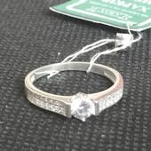 Новое красивое серебряное кольцо с куб.цирконием Серебро 925 пробы