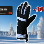 Лыжные мужские перчатки р. S/M Thinsulate Walmart Сша