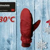 Лыжные подростковые перчатки р. S/M Thinsulate 40г Walmart Сша