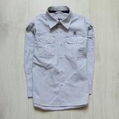 Стильная рубашка для мальчика. Рукав можно сделать коротким. Next. Размер 6 лет. Состояние: новой