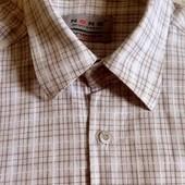 хлопок рубашка мужская р. М плотная деми осень весна клеточка