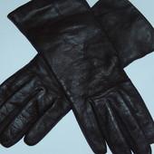 Женские кожаные перчатки на шерстяной подкладке,р-р 7,сток