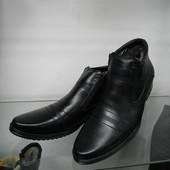 Кожаные мужские ботинки 46 разм.