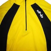Велосипедка футболка дышащая желтая черная dhb Designed in Italy L M