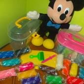 Набор для творчества Чемоданчик! Модулин 14 цветов для лепки+инструменты+досточка - в ведерке!