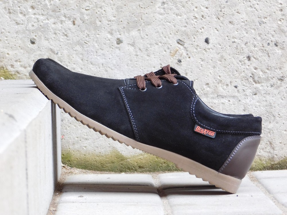 Туфли Braxton, р. 40-45, натур. замша, черн, син, код gavk-10055 фото №1