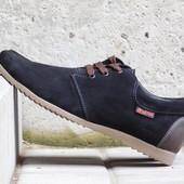 Туфли Braxton, р. 40-45, натур. замша, черн, син, код gavk-10055