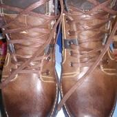 Кожаные ботинки .Размер 41