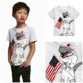 Футболка,  размер  4-6 лет, хлопок, детская футболка, H&M.