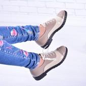 Натуральные туфли лоферы на шнуровке(1110),р-ры 36-41,любой цвет!