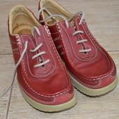 Ecco 39р ботинки кожаные, полуботинки мокасины. Демисезонные туфли