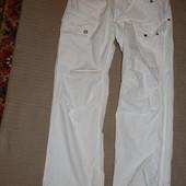Белоснежные х/б фирменные джинсы карго G-Star Raw Denim Голландия 36/34 р.