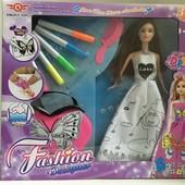Кукла Раскрась платье с фломастерами