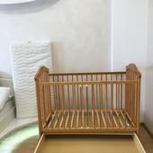 Продам кроватку с матрасом и защитой
