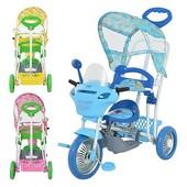 детский трехколесный прогулочный велосипед B 3-9/6012