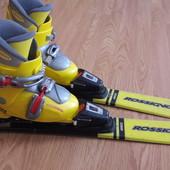 Лыжи 90  ботинки 19 - 19.5 см.