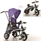 Детский трехколесный велосипед Turbo Trike M 3212A, 2в1(колясочный с функцией поворота сиденья/бегов