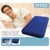 Матрас надувной 68757 одноместный Intex размер 99х193х22см Интекс матрац