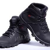 Зимние кожаные кроссовки ecco Gtx Grip Point Hi-Top